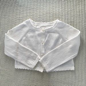 Baby Gap White Cardigan | 18-24M